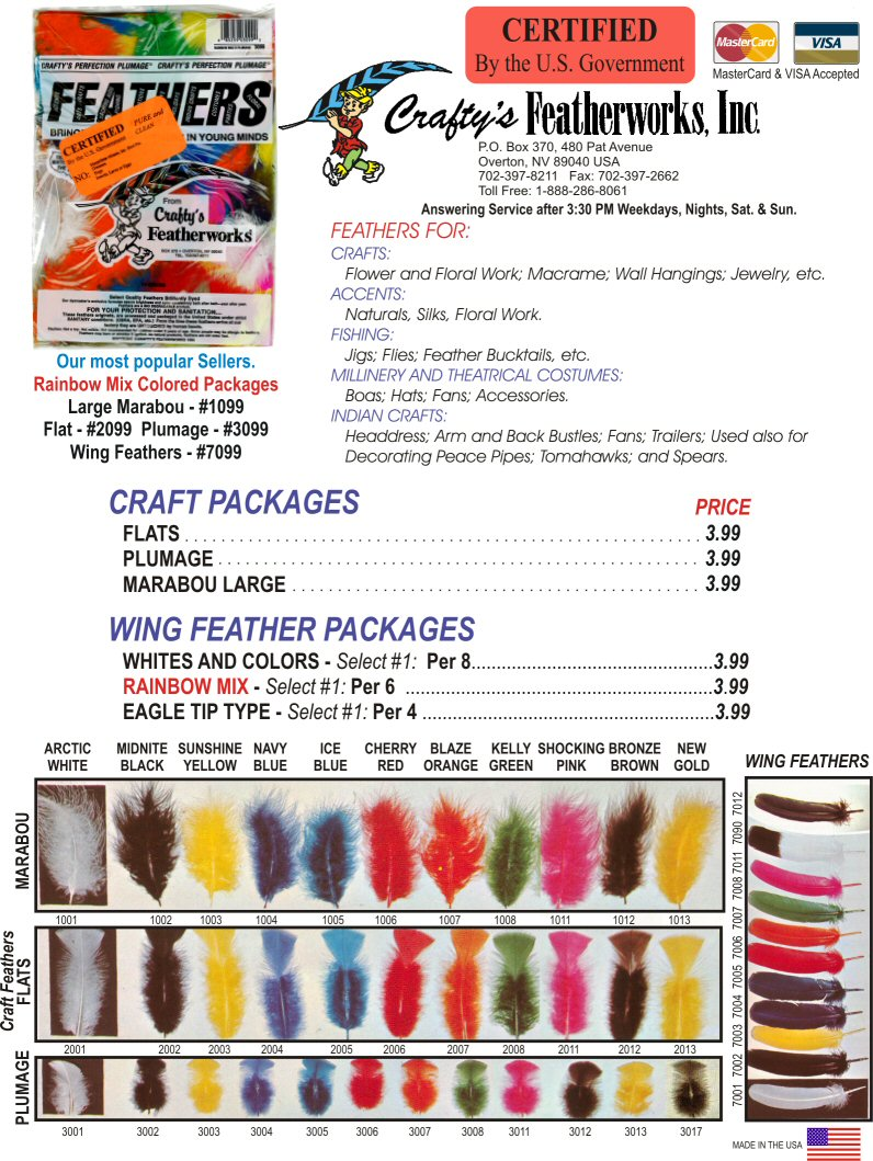 [ Certified Feathers by Crafty's FeatherWorks ]